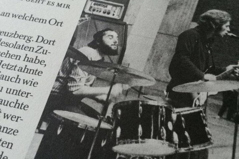 Scherben-Chronologie am Schlagzeug